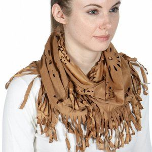 Fashion Fringed Infinty Scarf / Scarves